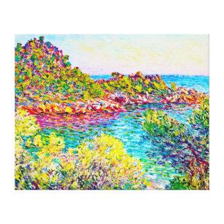 Paisaje cerca de Monte Carlo, Claude Monet 1883 Impresiones En Lienzo Estiradas
