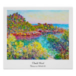 Paisaje cerca de Monte Carlo, Claude Monet 1883 Posters