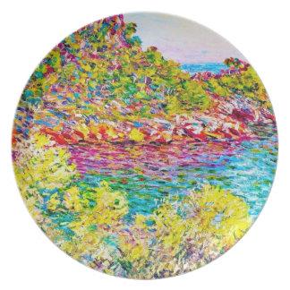 Paisaje cerca de Monte Carlo, Claude Monet 1883 Plato De Cena