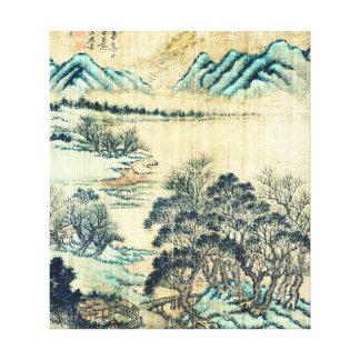 Paisaje chino 1730 impresión en lona