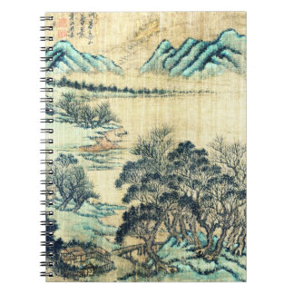 Paisaje chino 1730 spiral notebook