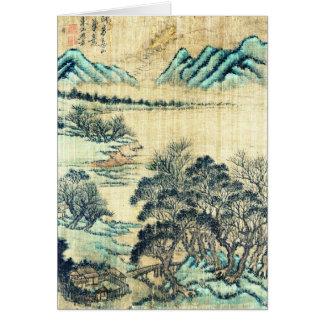 Paisaje chino 1730 tarjeta de felicitación