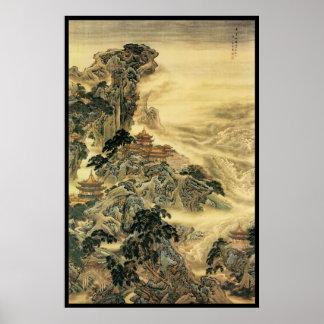 Paisaje chino (iii) póster
