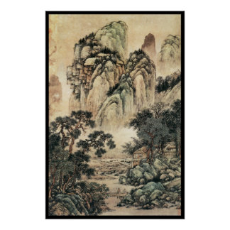 Paisaje chino (vi) póster