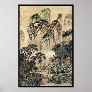 Paisaje chino vi posters