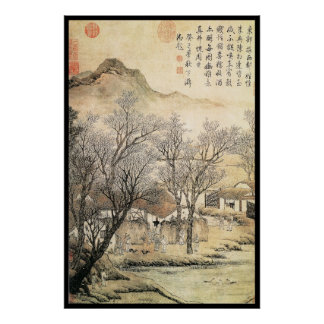 Paisaje chino (viii) póster