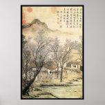 Paisaje chino (viii) posters