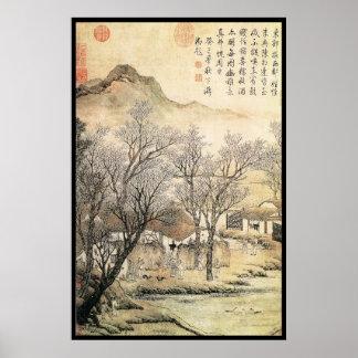 Paisaje chino viii posters