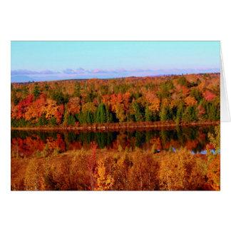 Paisaje circundante del otoño del Mt. Katahdin Tarjeta De Felicitación