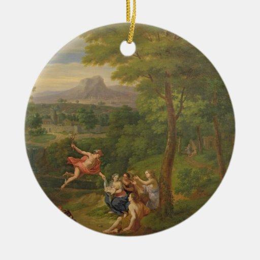 Paisaje clásico con Mercury que supervisa el BI Ornamente De Reyes
