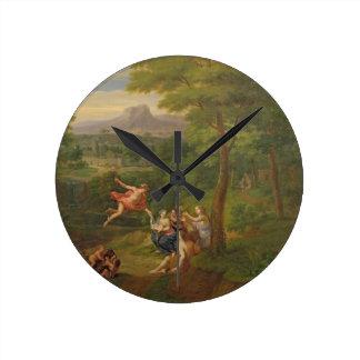 Paisaje clásico con Mercury que supervisa el BI Reloj Redondo Mediano
