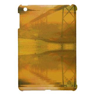 Paisaje coloreado caída cubierto con el puente