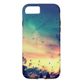 Paisaje colorido de la naturaleza del cielo de los funda iPhone 7