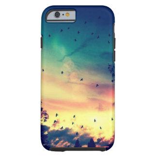 Paisaje colorido de la naturaleza del cielo de los funda para iPhone 6 tough