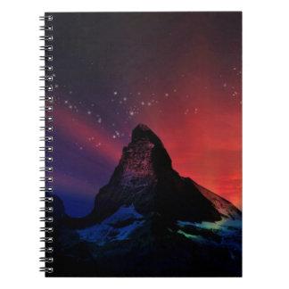 Paisaje colorido del cielo de Cervino Note Book