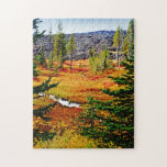 Paisaje colorido del otoño puzzle con fotos