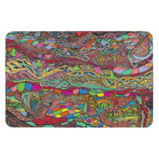 Paisaje colorido en laberintos imanes de vinilo