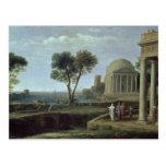 Paisaje con Aeneas en Delos, 1672 Postal