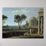 Paisaje con Aeneas en Delos, 1672 Poster