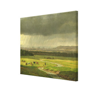 Paisaje con Dresden en la distancia, 1830 Impresiones En Lona