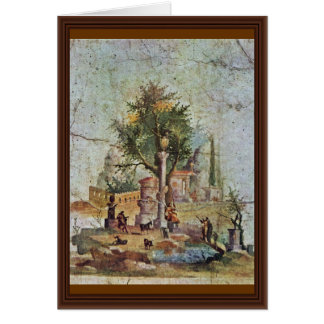 Paisaje con el árbol sagrado por Pompejanischer Felicitación