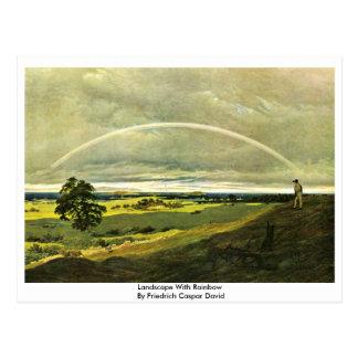 Paisaje con el arco iris por Friedrich Caspar Davi Tarjetas Postales
