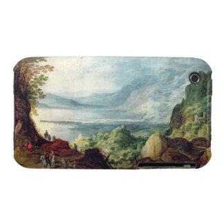 Paisaje con el mar y las montañas (aceite en lona) iPhone 3 Case-Mate cobertura