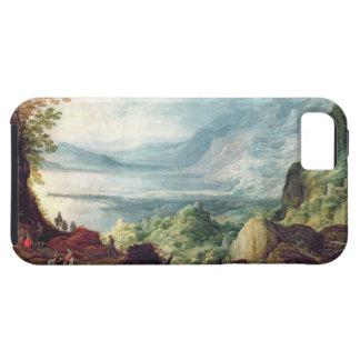 Paisaje con el mar y las montañas (aceite en lona) iPhone 5 protector
