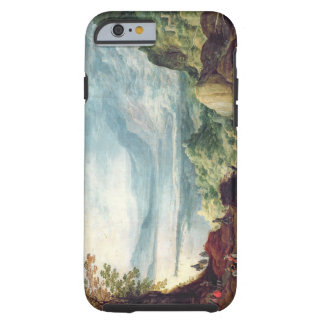 Paisaje con el mar y las montañas (aceite en lona) funda de iPhone 6 tough