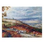 Paisaje con el molino de viento por Bruegel D. Ä.  Invitación