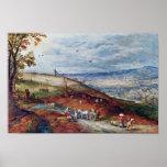 Paisaje con el molino de viento por Bruegel D. Ä.  Posters