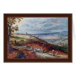 Paisaje con el molino de viento por Bruegel D. Ä.  Felicitaciones