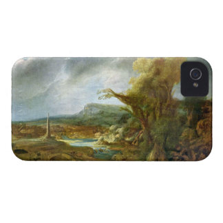 Paisaje con el obelisco de Rembrandt Case-Mate iPhone 4 Carcasa