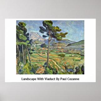 Paisaje con el viaducto de Paul Cezanne Impresiones