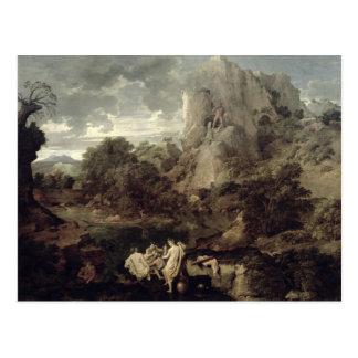 Paisaje con Hércules y Cacus, c.1656 Tarjeta Postal