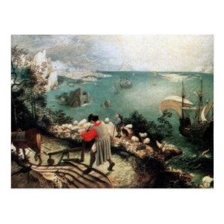 Paisaje con la caída de Ícaro - 1558 Postales