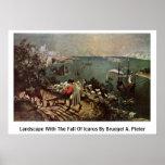 Paisaje con la caída de Ícaro por Bruegel A. Pi Poster