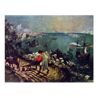 Paisaje con la caída de Ícaro por Bruegel D. Ä. Postales