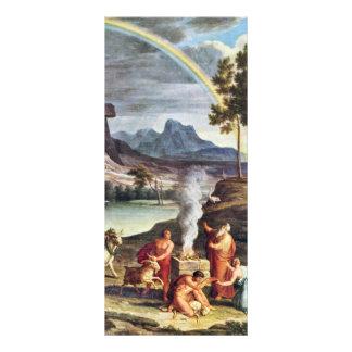 Paisaje con las ofrendas de la paz de Noah por Koc Tarjetas Publicitarias Personalizadas