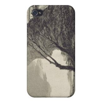 Paisaje con las rocas grandes iPhone 4 carcasa