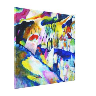 Paisaje con lluvia de Wassily Kandinsky Lona Envuelta Para Galerias