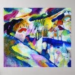 Paisaje con lluvia de Wassily Kandinsky Posters