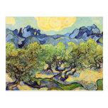 Paisaje con los olivos de Vincent van Gogh Tarjeta Postal