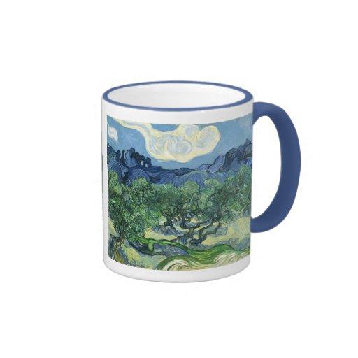 Paisaje con los olivos, Vincent van Gogh Tazas De Café