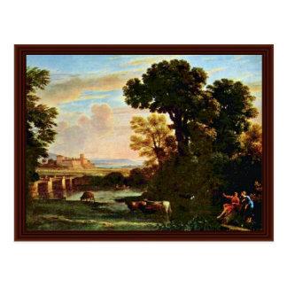 Paisaje con los pastores (pastorela) tarjetas postales
