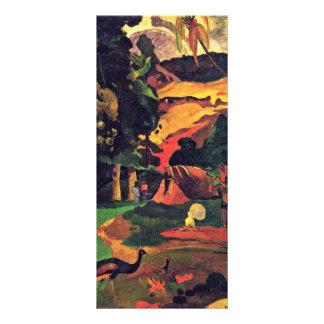 Paisaje con los pavos reales (Matamoe) por Gauguin Lonas Personalizadas