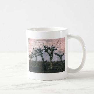 Paisaje con los sauces 1883 del árbol descopado tazas de café