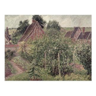 Paisaje con los tejados de la cabaña, 1899 postales