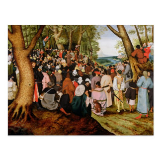 Paisaje con St. John la predicación baptista Tarjeta Postal
