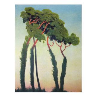 Paisaje con Trees 1911 Postales